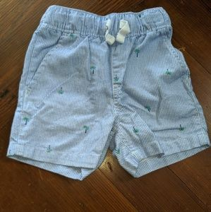 Children's Place striped shorts palm trees 18-24m
